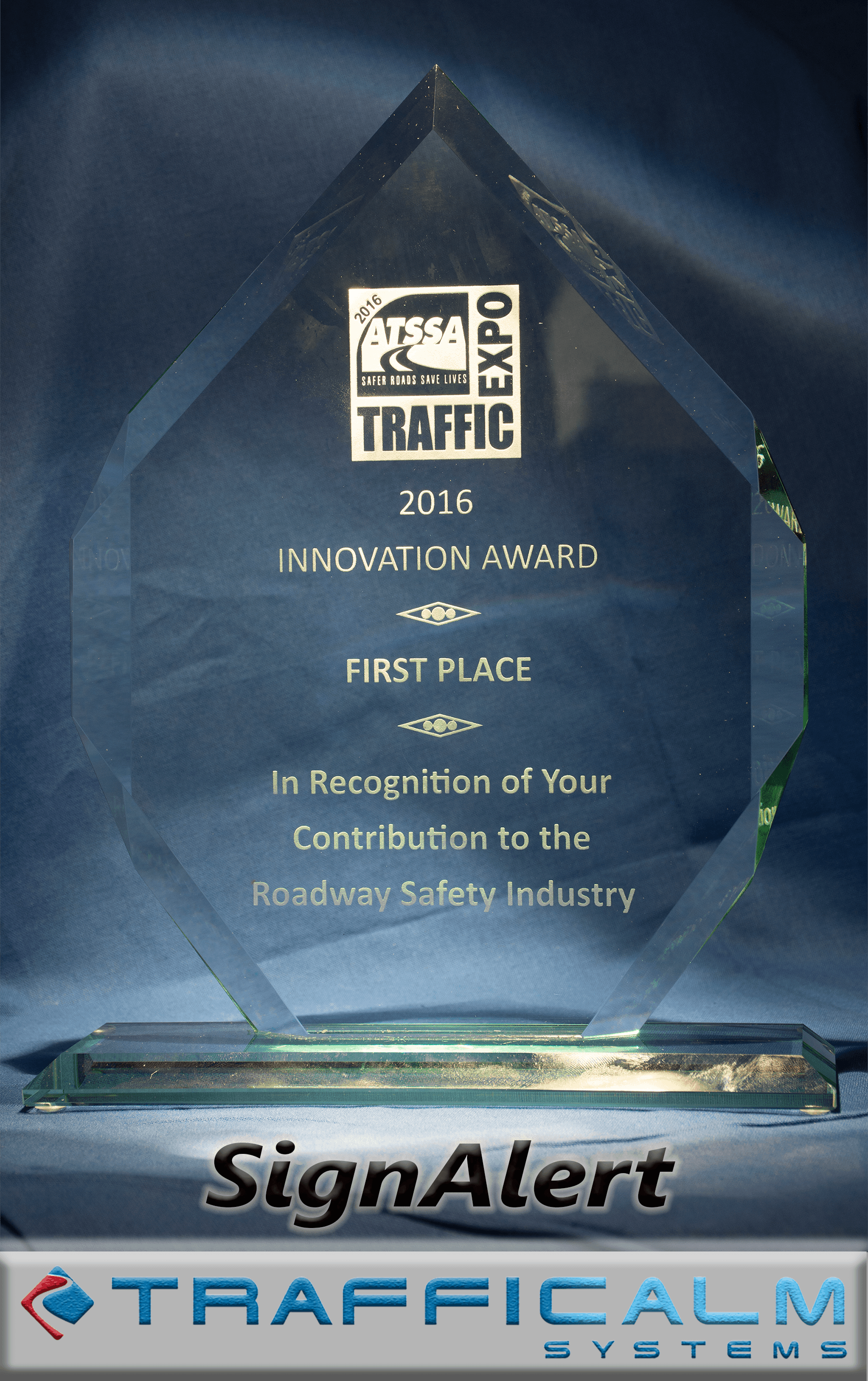 TraffiCalm receives ATSSA Innovation Award • TraffiCalm Radar Speed ...
