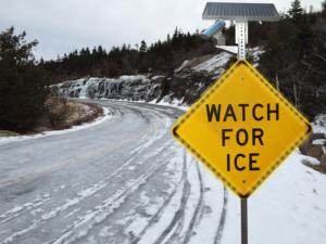 Ice Sensing LED Enhanced Illuminated Solar Sign